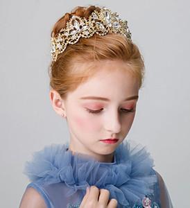 Новая корона девушка украшения волос цветочница Рождество дрель воды оголовье украшения принцесса корона оголовье