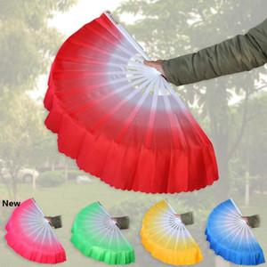 Chinese Dance Fan Silk Weil 5 Colors Available For White fan bone Wedding Folding Hand Fan Party Favor LJJA3499-2