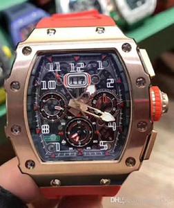 LCD10 Дизайнерские часы серии Flyback Chronograph RM11-03, движение часы дизайн выдолбленные, 316L тонкой стальной корпус, движение xietiecheng,