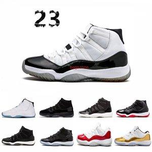 """""""45"""" Yüksek Kalite 11 Spaces Reçeller Basketbol Ayakkabı düşük Bred Concord Gama Mavi Erkekler Kadınlar ayakkabıları 72-10 Gym Kırmızı Sneakers"""