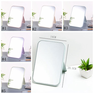 High List Makeup Mirror Desktop Colorful Vanity Mirror Folding Portable Large Square Princess Mirror 20.5x 14 cm EEA910-8