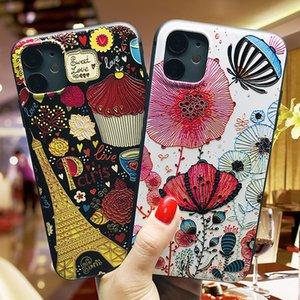 Chinese Art Kreative Relief Telefon-Kasten für iPhone 11 Pro XS XR-Silikon-weiche Schutzhülle für das iPhone 6 7 8 Plus SE 2020