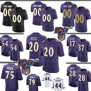 20 Ed Reed personalizado Jersey Ray Lewis Mark Andrews Jonathan Ogden Ronnie Stanley Tyus Bowser Terrance West Ngata