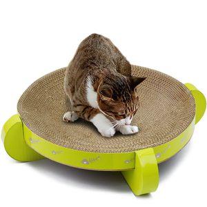 Cat Cardboard Scratcher Mat Scratch Lounge Bed Interactive Cat Toy Kitten Scratching Pad Pet Furniture Kitten Play House Supply