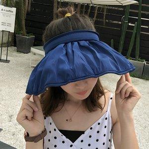 2020 Kadınlar Yaz Spor Cap saç bantlarında Taşınabilir Plaj Breathble Açık Seyahat Shade saçakları Şapka UV Güneş Koruma Kadın Cap katlanır