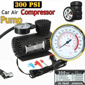 300 PSI البسيطة ضاغط الهواء السيارات السيارة 12V المحمولة مضخة نافخة الإطارات ث مقياس / نيو VS998