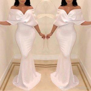 2020 elegante Dubai Off the Shoulder Vestidos Mermaid Cape luva Pavimento Length formal da ocasião Prom Party Dresses Custom made