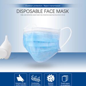 Máscara facial de diseñador de 3 m Protección segura Tela no tejida azul Anti-polvo Anti-niebla Máscara facial de un solo uso Máscara respiradora Listo Stock