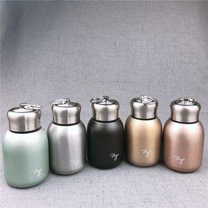 5styles 304-Edelstahl-Becher 300ml Vakuum-Isolations-Tumbler Matte Lady Wasser Bauch Cup für Outdoor-Reisen Weihnachtstrinkgefäße FFA2843 Griff