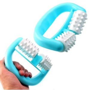 Rolos de plástico Duplo Massageador Celulite corpo Leg Abdome Pernas Pescoço Nádegas Rápido Anti Fadiga Relaxing Massage plástico