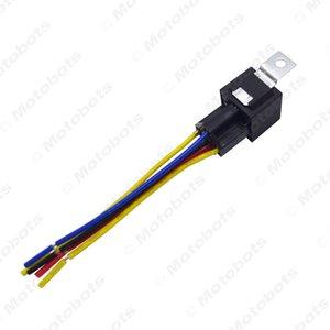 Leewa de alarma del coche automotor JD1914 de 5 pines de 12 V CC 40 / 30A Constante-cerrado Controlador de relé con arnés de cable # 3909