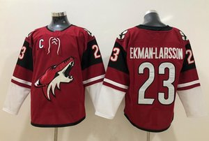 2019 Arizona Coyotes # 23 Oliver Ekman-Larsson Rosso Capitan C Patch Jersey Uomini Kid Donne Youth cucita Blank Hockey su ghiaccio White Jerseys