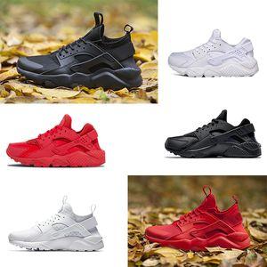 Nike Air Huarache 1.0 4.0 men shoes Ultra zapatillas para hombre mujer triple negro blanco rojo transpirable para hombre entrenador zapatillas deportivas tamaño 36-45