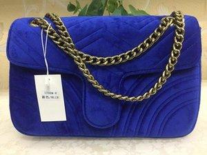 Heißer Verkauf-blau BAG NEW Marmont Frauen Schultertasche Geschenkbox mit Rechnung-Zertifikat-Karte Zubehör 02 #