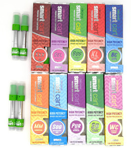 NUEVOS Smart Carts SmartCarts Green Vape Cartridges 1.0ml Glass Tank 510 thread Ceramic Coil Thick Oil Atomizer No Leakage Vaporizer