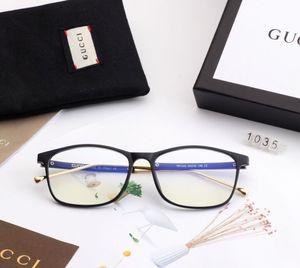 Designer Herren Sonnenbrillen New Fashion Anti-Blue Light Brille mit Full Frame für Männer Frauen Sommer Flat Mirror Brand Brille mit Box