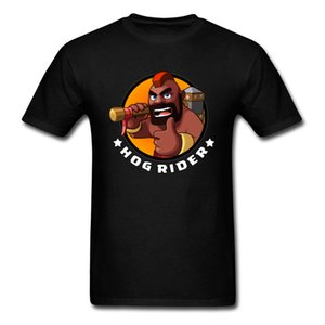 2018 Hog Rider T-Shirt Men Game T Shirt Hunter Gamer Clothing Cartoon Tops Funny Tees Summer Black Tshirt Plus Size