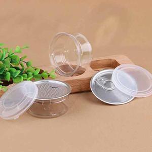 55ml 53 * 28MM جرة PET البلاستيكية التي تحتوي على غطاء معدني الغذاء الحاويات صندوق تخزين الأغذية الجرار الغذاء شفاف يختم زجاجة العلب ZZA2285N