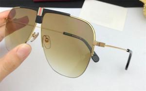 Оптовые новые модельер мужские солнцезащитные очки 1094 Металлические пилоты рама деревянные ножки uv400 поляризованные защиты очки винтажный стиль