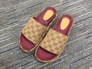 Gucci slippers aleta colorido novo estilo Mulheres 573018 slides sandália clássico moda Designer Ladies Red morango fracassos principais marcas populares