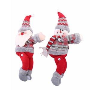 Decorações de natal Bonecas de Natal Árvore de Natal Cortina Fivela de cortina Janela Layout de cena de férias Fivela de boneca dos desenhos animados 2styles RRA2037