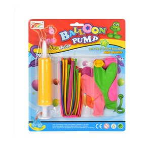 Balloon Set with Small Pump Inflator Children's Long Strip and Round Magic Balloon Toys for Children Birthday Gift Party Supplie