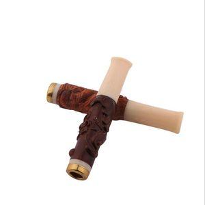 Madera tallada pera Huanghua / Daguo palo de rosa porta cigarrillos tirar filtro acrílico caja de regalo embalaje embalaje