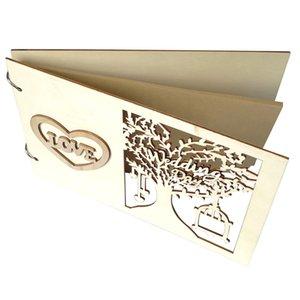 Fatto a mano in legno Hot Firma fai da te Sign-in Prenota Wedding Guestbook legno matrimonio Guest Book albero di matrimonio personalizzato Guest Book