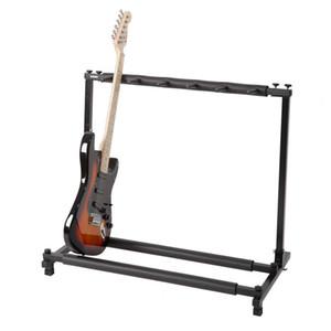 Полка в стиле Guitar Stand может поставить 5 Гитары Многофункциональный складной стеллаж для хранения Электро-акустическая бас-гитара Универсальный Guitar Rack