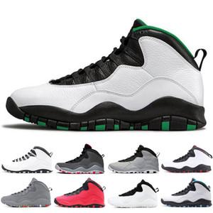 Nuovo di 10 10s pattini di pallacanestro per gli uomini Seattle deserto Camo Camo Mens formatori moda cemento scarpe da tennis di sport