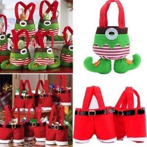 A Festive Party Supplies 1pcs Christmas Decoration For Home Santa Pants Christmas Gift Treat Bag Kids Candy Bag