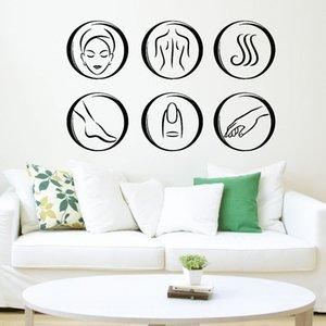 Спа Салон красоты Массаж стены наклейки Relax Body Art Наклейка Фрески Номер Интерьер Виниловые украшения Водонепроницаемые обои