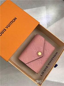 mujeres calientes de lujo bolsa de diseñador de la cartera monedero estrella del aire verdadera titular de la tarjeta de cuero 9.5x7.5x3cm tamaño 7264991 serie M62936 LOU con la caja