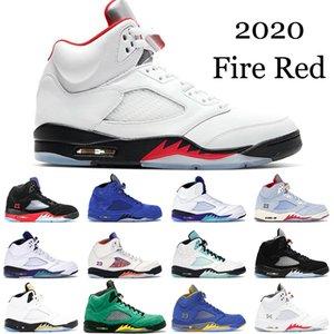 Air Jordan 5 2020 Yangın Red 5s erkek Basketbol Ayakkabıları İlk 3 Island Yeşil Inspire Bred erkekler 5 PSG Siyah OG spor Spor ayakkabılar