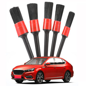 Car Detailing 5pcs Car Wash Accessories Auto Wash Brush For Dashboard Door Air Outlet Vent Seat Gap Wheel Cleaning Wipe Rub Tool