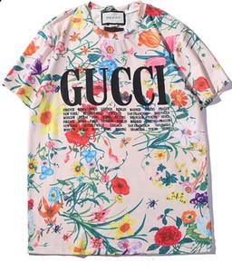 2019 남성과 여성을위한 새로운 스타일의 패턴 짧은 소매 세련된 힙합 짧은 소매 티셔츠