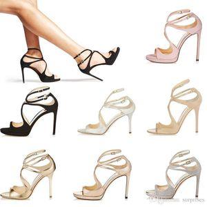 19 Sandalias de diseño para mujer Así Kate Styles Moda Tacones altos de niña de lujo 10CM 12CM LANCE negro rosa blanco Plata Cuero Punta tamaño 35-42