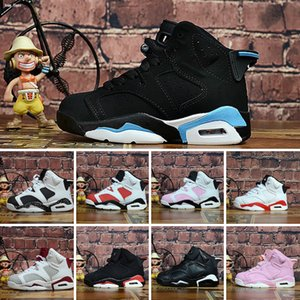 2020 Cheap Children Athletic shoes 6 Kids Basketball J6 Athletic sport Sneakers for Boys And Girl Toddlers Birthday Gift Size 28-35