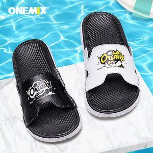 Onemix estivi pantofole di moda all'aperto sandalo antiscivolo scarpe da spiaggia degli uomini degli uomini di alta qualità libera di trasporto 39-45