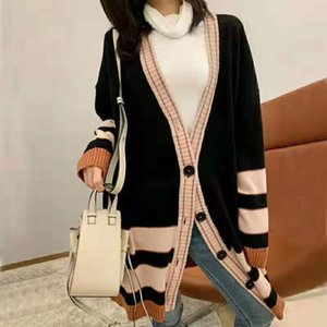 New Arrival Cardigan Autumn Winter Blue Knitting Sweater Jacket Women Fashion Outdoor Coats Street Outwear 29557