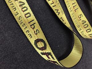 Cintos novo off White Belts Moda de Nova Harajuku Unisex Canvas Impressão Belt Carta Big Buckle alta qualidade Casual All-jogo Jeans Belt