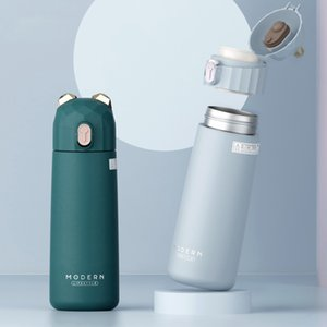 Modern Bear Thermal Cup 304 Stainless Steel Tumbler 350ml Vacuum Flask Lovely Girls Thermos Bottle Travel Insulated Cup