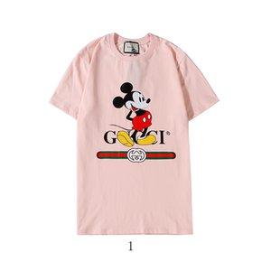 Monkey Pattern Mens Designered Shirts Luxury T-shirt Men Women Branded Top Tees Summer Short Sleeve Hip Hop Mens Designered Shirts 2020320K