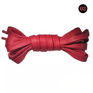 50/80 / 100 / 120cm 1pair unisexe Piercings plat Lacets cuir imperméable Chaussures Casual Lacets Bottes Lacet Pour Accessoires Chaussures
