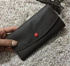 Ücretsiz kargo! Moda tasarımcısı debriyaj ünlü marka debriyaj kutu toz çantası ile Hakiki deri EMILIE cüzdan 60136