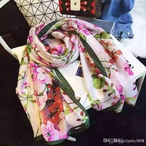 2020 bufanda de mujer de marca bufandas de seda Luxurys Mujeres New diseñadores Hemming Bufandas Chales Wrap con la etiqueta 180x70Cm Chales collar Headban