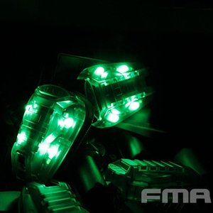 FMA Überleben HEL-STAR 6 Helmet Mounted LED Marker Strobe Light Green Light