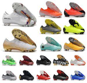 Mens Mercurial Vapors Fury VI VII XII Elite FG Frenzy 6 7 12 CR7 Ronaldo Neymar Fútbol Fútbol Zapatos Low Women Kids Size 35-45