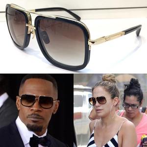 Frame Mach Nuevo Uno de los hombres gafas de sol Cuadrado manera de la vendimia del metal al aire libre Protección UV 400 gafas de lente con el caso de calidad superior