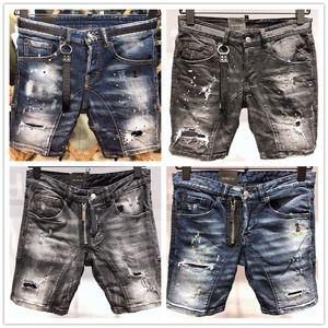 Afligido dos homens de luxo Ripped Skinny Jeans Fashion Designer Jeans Mens Magro motocicleta Moto motociclista Causal Mens Denim Pants Hip Hop Jeans